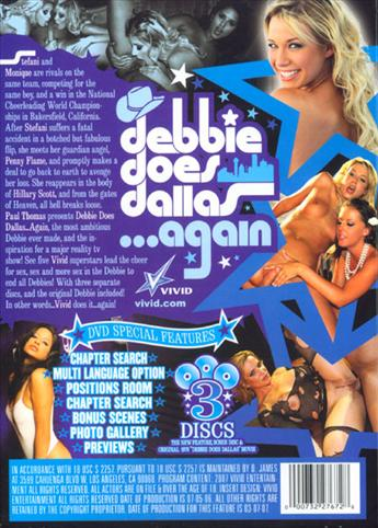 Debbie Does Dallas Again from Vivid back cover