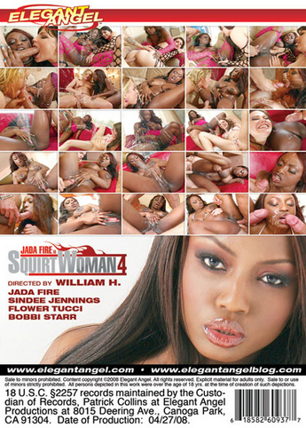 Jada Fire Is Squirtwoman 4 from Elegant Angel back cover