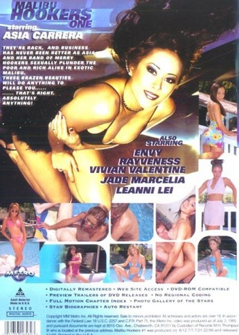 Malibu Hookers from Metro back cover
