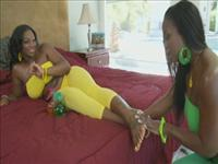 Girls Greasin' Girls 3 Scene 4