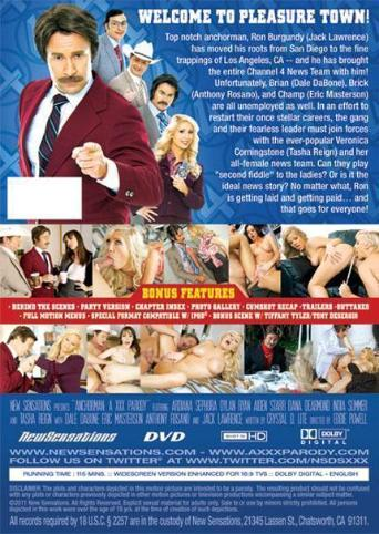 Anchorman A XXX Parody from New Sensations back cover