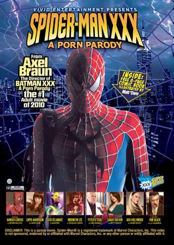 Spider Man XXX A Porn Parody from Vivid front cover