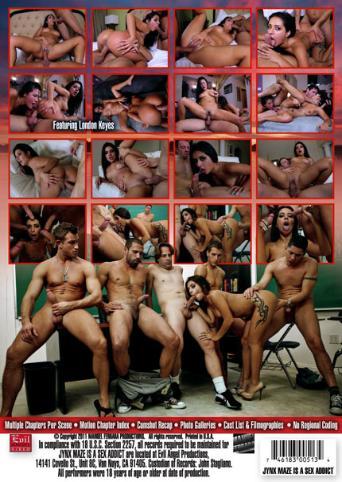 Jynx Maze Is A Sex Addict from Evil Angel: Manuel Ferrara back cover
