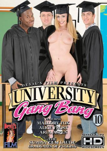 University Gangbang 10 from Devil's Film front cover