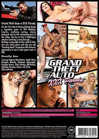 Grand Theft Auto XXX Parody from Daring back cover