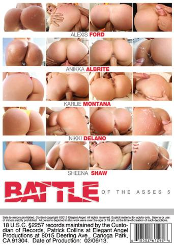 Battle Of The Asses 5 from Elegant Angel back cover