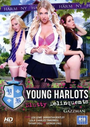 Young Harlots Slutty Delinquents from Harmony front cover