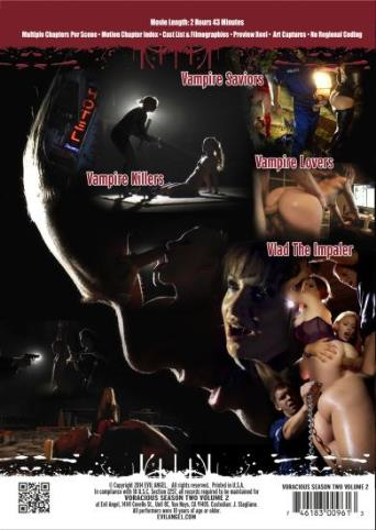 Voracious Season Two V2 from Evil Angel: Rocco Siffredi back cover