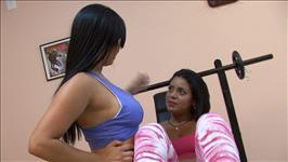 Sexy Brazilian Lesbian Workout Scene 4
