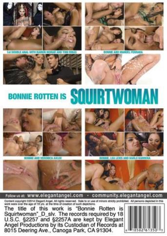 Bonnie Rotten Is Squirtwoman from Elegant Angel back cover