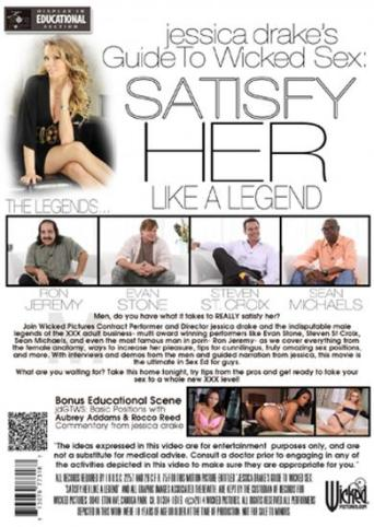 Jessica Drake's Guide To Wicked Sex Satisfy Her Like A Legend from Wicked back cover