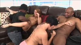 Interracial Pussy Party