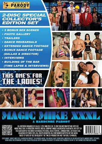 Magic Mike XXXl from Wicked back cover