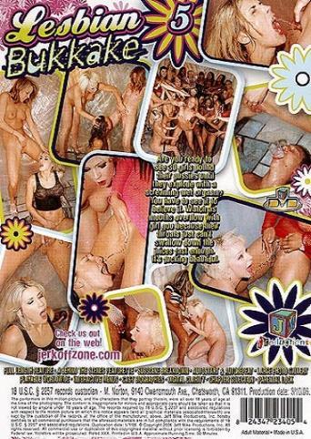 Lesbian Bukkake 5 from JM Productions back cover