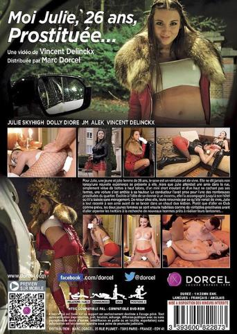Julie 26 Prostitute In Brussels from Marc Dorcel back cover