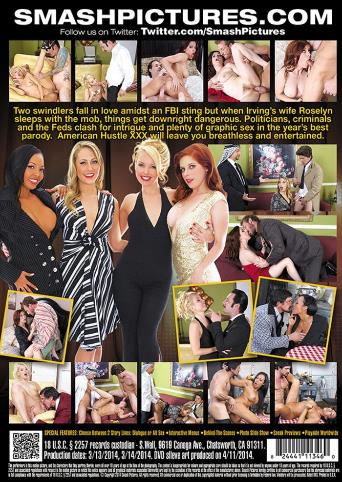American Hustle XXX Porn Parody from Smash Pictures back cover