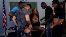 Interracial Teacher Gangbang