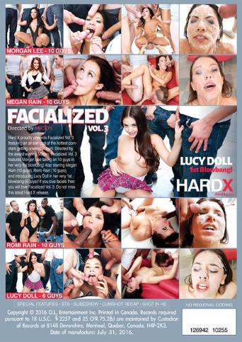 Facialized 3 from Hard X back cover