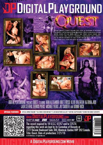 Quest from Digital Playground back cover