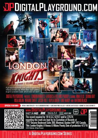 London Knights A Heroes And Villians XXX Parody from Digital Playground back cover