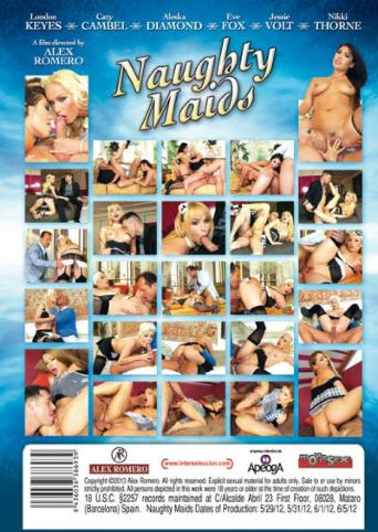 Naughty Maids from Alex Romero back cover