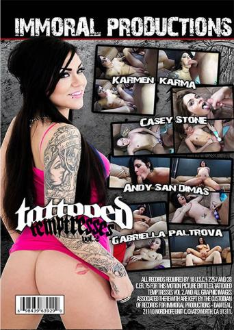 Tattooed Temptresses 2 from Immoral Productions back cover