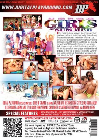 Girls Of Summer from Digital Playground back cover