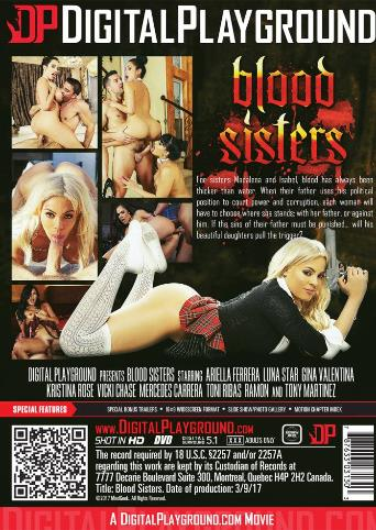 Blood Sisters from Digital Playground back cover