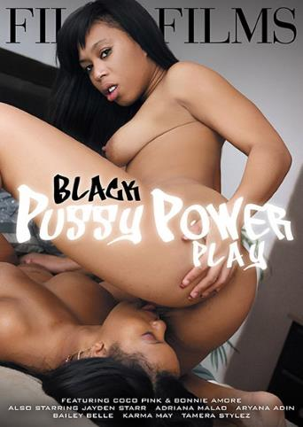 Black Pussy Power Play from Filly Films front cover