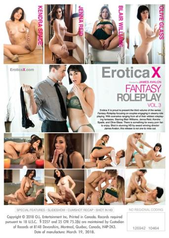 Fantasy Roleplay 3 from Erotica X back cover