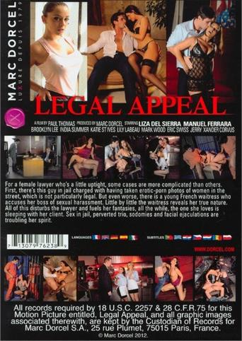 Legal Appeal from Marc Dorcel back cover