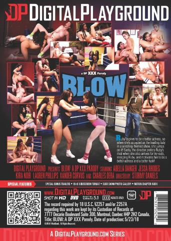Blow A DP XXX Parody from Digital Playground back cover