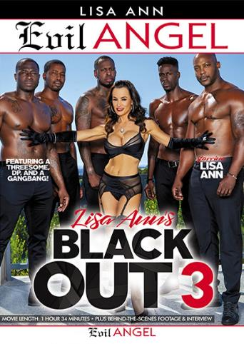 Lisa Ann's Black Out 3 from Evil Angel front cover