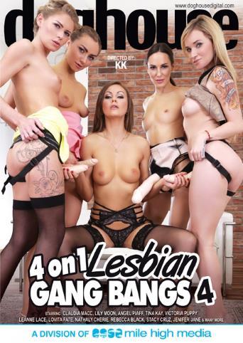 4 On 1 Lesbian Gangbangs 4